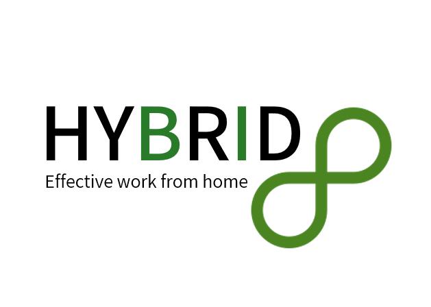 Hybrid8 Logo בינוני על רקע לבן